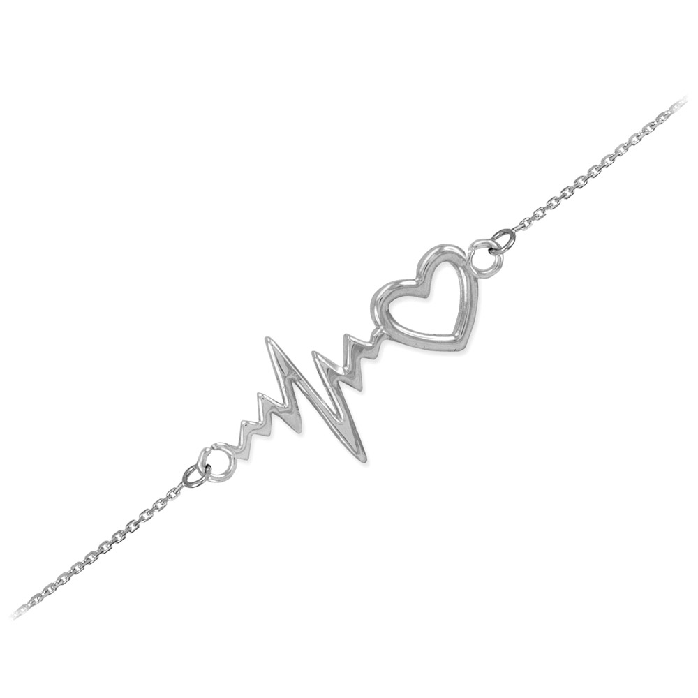 Heartbeat Bracelet in Sterling Silver