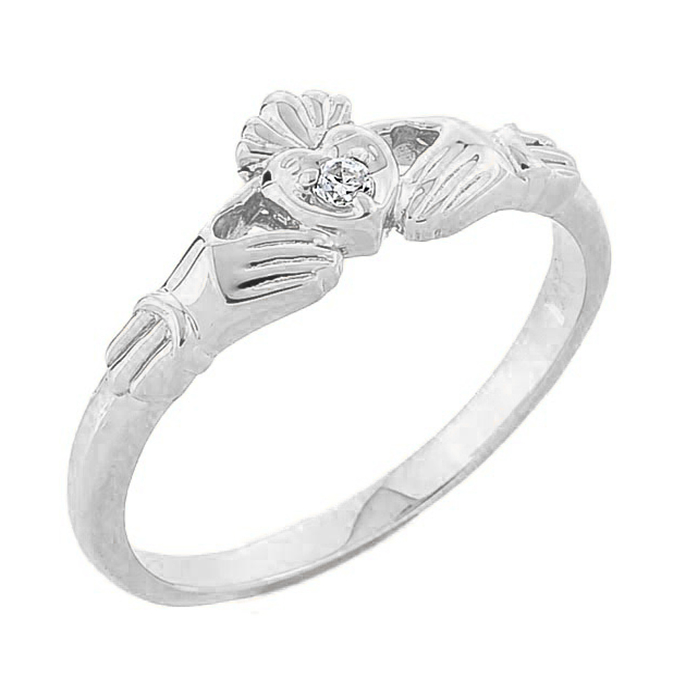 Solid 10k Yellow Gold Traditional Irish Claddagh Ring