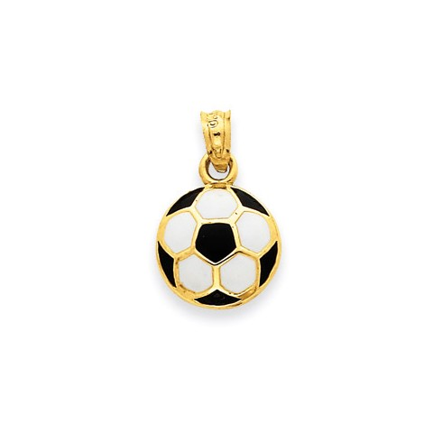 Enameled football pendant necklace in 9ct gold gold boutique enameled football pendant necklace in 9ct gold aloadofball Images
