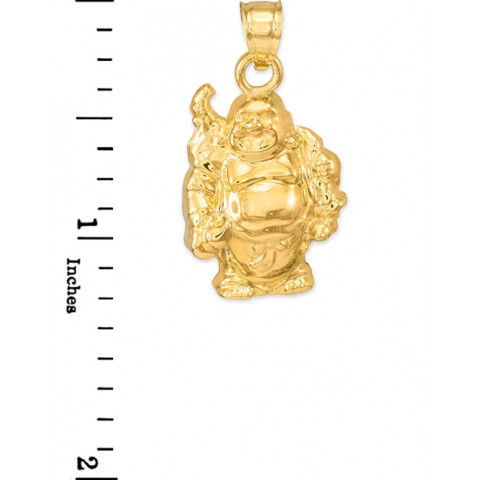 Laughing buddha pendant necklace in 9ct gold gold boutique laughing buddha pendant necklace in 9ct gold aloadofball Image collections