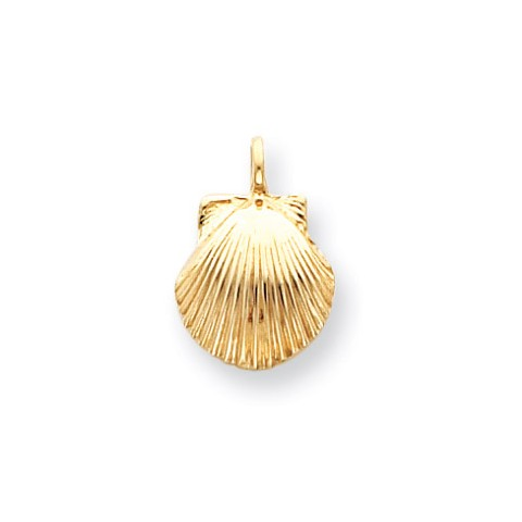 Seashell charm pendant necklace in 9ct gold gold boutique aloadofball Gallery