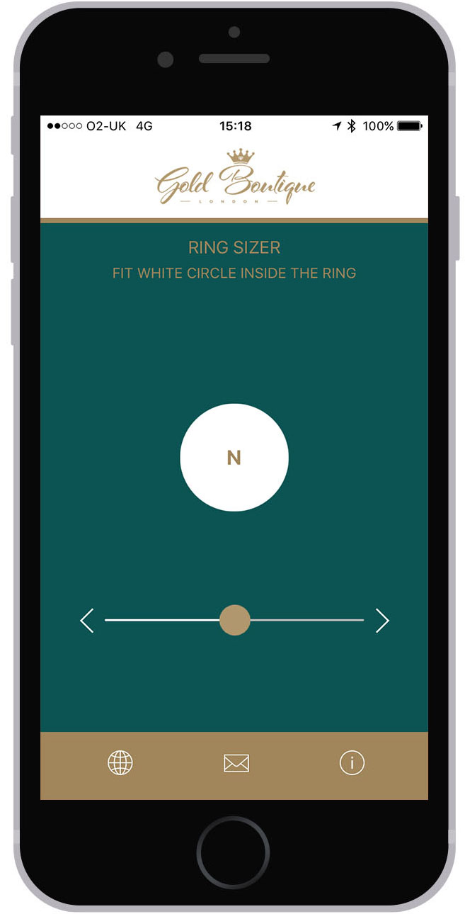 iPhone: Ring Sizer App